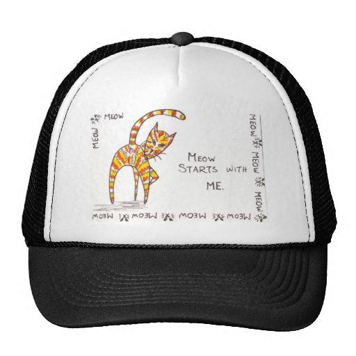 Meow Starts with ME Mesh Hat