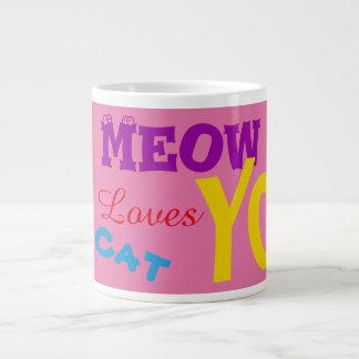 Meow This Tom Cat Loves You Jumbo Mugs