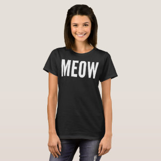 Meow Typography T-Shirt