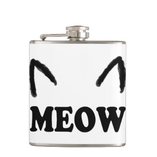 Meow With Cat Ears Hip Flask
