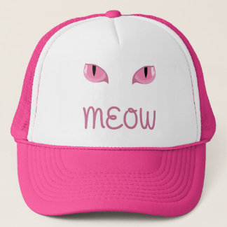 Meow with pink cats eyes cap
