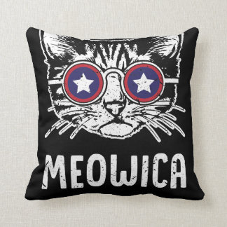 Meowica Fourth of July Pillow