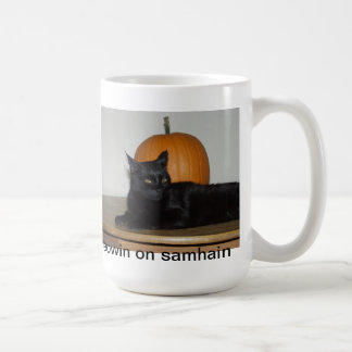 Meowin on Samhain Coffee Mug