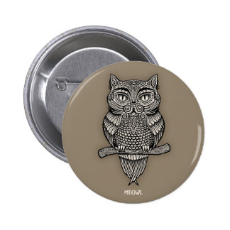 Meowl 6 Cm Round Badge