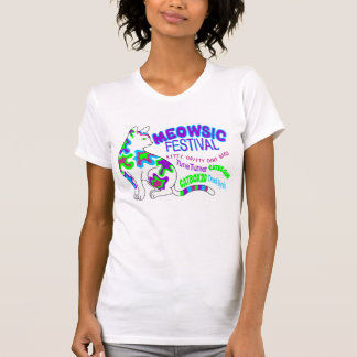 MEOWSIC FESTIVAL...psychedelic cat & classic rock T-Shirt