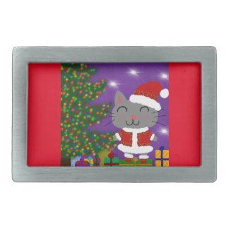 Meowy Christmas Belt Buckle