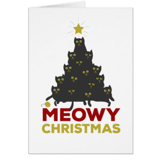 Meowy Christmas Card