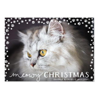 Meowy Christmas Cat Lover Holiday Photo Card 13 Cm X 18 Cm Invitation Card