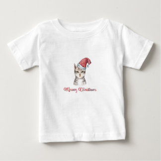 Meowy Christmas Design for Cat Lovers Baby T-Shirt