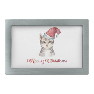 Meowy Christmas Design for Cat Lovers Belt Buckle