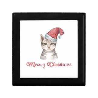 Meowy Christmas Design for Cat Lovers Gift Box