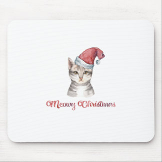 Meowy Christmas Design for Cat Lovers Mouse Pad