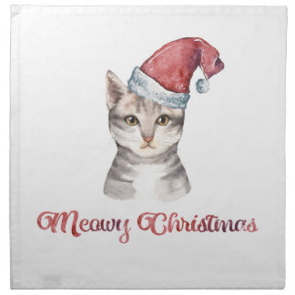Meowy Christmas Design for Cat Lovers Napkin