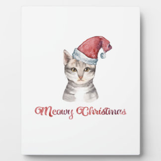 Meowy Christmas Design for Cat Lovers Plaque