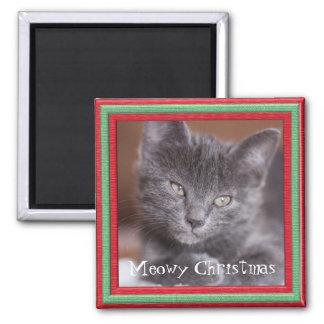 Meowy Christmas Frame Customizable Kitty Magnet