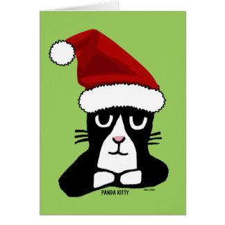MEOWY CHRISTMAS PANDA KITTY Greeting cards