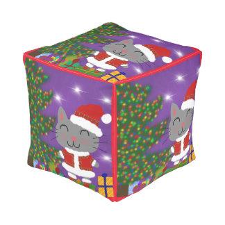 Meowy Christmas Pouf