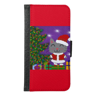 Meowy Christmas Samsung Galaxy S6 Wallet Case