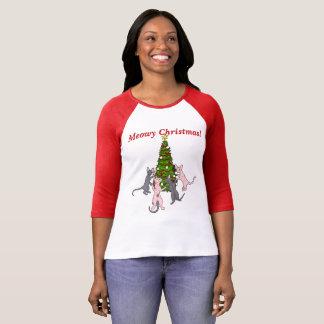 Meowy Christmas! Sphynx and Bambino Cats T-Shirt