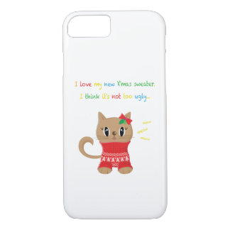 Meowy Christmas Ugly Sweater Phone Case