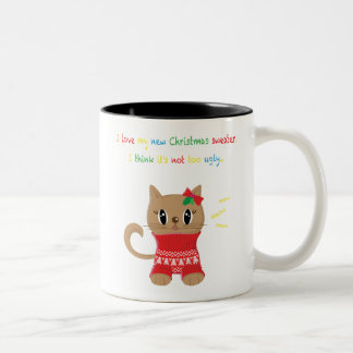 Meowy Christmas Ugly Sweater Phone Case Two-Tone Coffee Mug