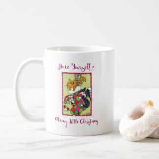 Meowy Little Christmas Kittens & Stocking Holiday Coffee Mug