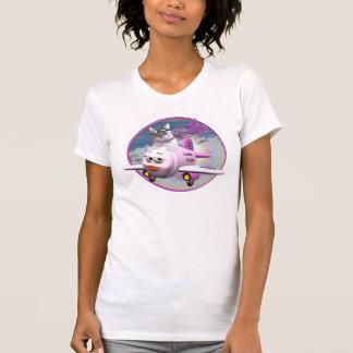Meowzalina Flying High Tee Shirts