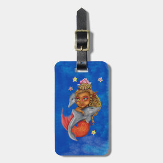 Mer Dancing with Dolphins Luggage Tag