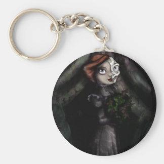 Meradith Basic Round Button Key Ring