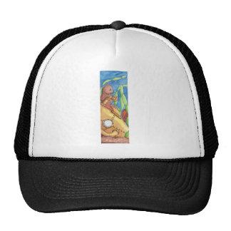 Mercat and Submarine Trucker Hat