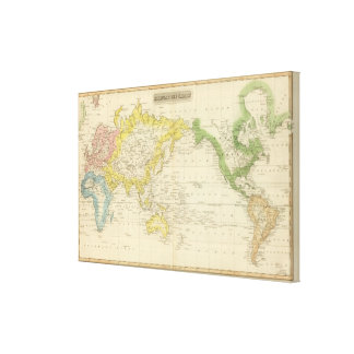 Mercator's Chart 2 Stretched Canvas Prints