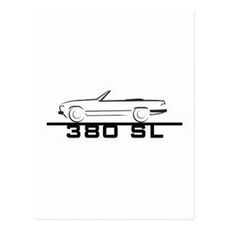 Mercedes 380 SL Type 107 Postcard
