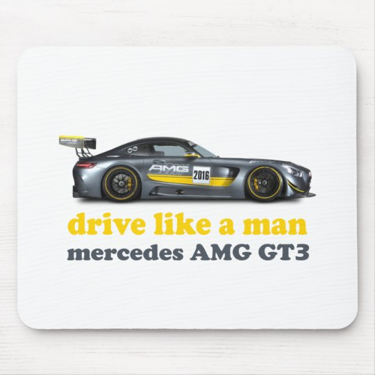 mercedes amg gt3 racing car drive like a man mouse pad