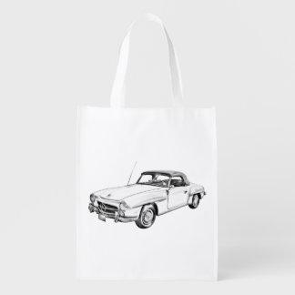 Mercedes Benz 300 sl Classic Car Illustration