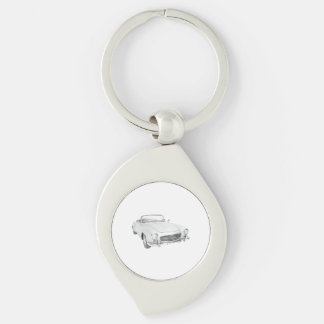 Mercedes classic convertible key ring