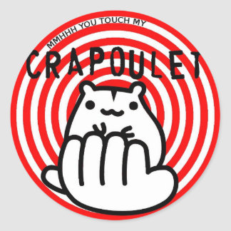 Merch Crapoulet Records Classic Round Sticker