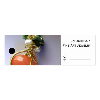 Merchandise Price Tags (Jewelry) Pack Of Skinny Business Cards