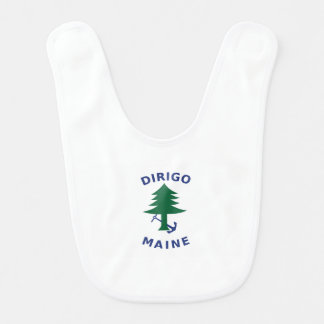 Merchant and Marine Flag of Maine Baby Bibs