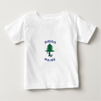 Merchant and Marine Flag of Maine Baby T-Shirt