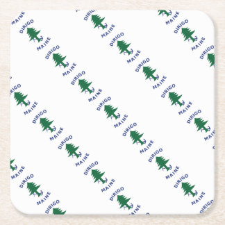 Merchant and Marine Flag of Maine Square Paper Coaster