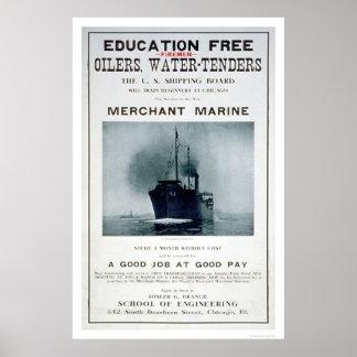 Merchant Marine Recruiting Poster (US02056)