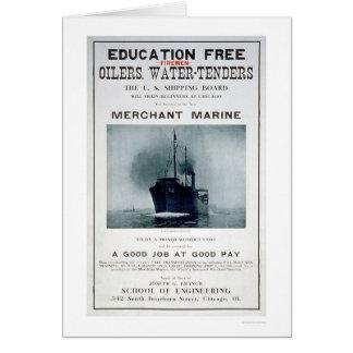 Merchant Marine Recruiting Poster (US02056) Card