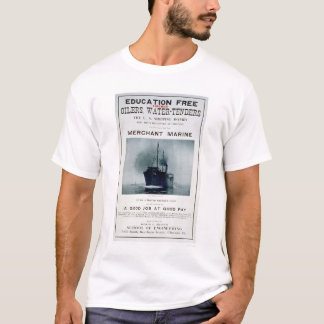 Merchant Marine Recruiting Poster (US02056) T-Shirt