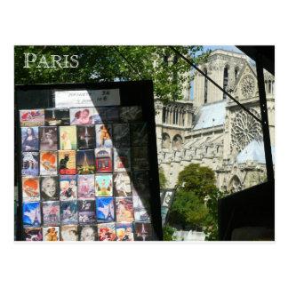 Merchant Stall Near Notre Dame Postcard