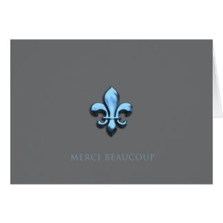 Merci Beaucoup in Blue (Thank You Very Much) Note Card
