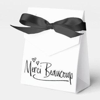 """""""Merci Beaucoup"""" Paris Doodle Sketch Baby Shower Favour Box"""