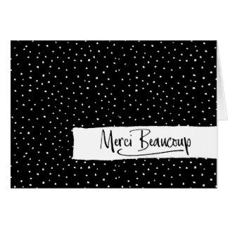"""Merci Beaucoup"" Paris Doodle Sketch Thank You Card"