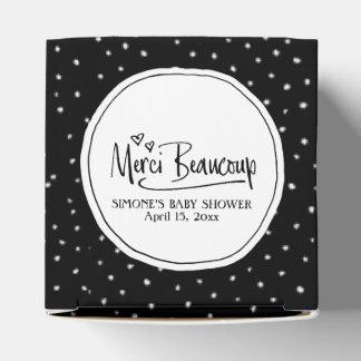 """Merci Beaucoup"" Paris Personalized Baby Shower Favour Box"