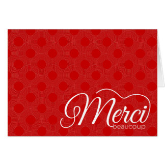 Merci Beaucoup Thank You Notecard