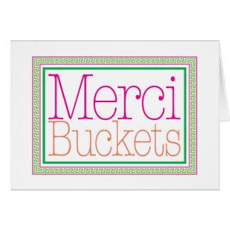 Merci Buckets - Thank you card